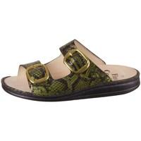 Schoenen Dames Leren slippers Finn Comfort Lipari Noir, Vert