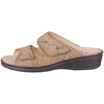 Schoenen Dames Leren slippers Finn Comfort Jamaika Beige