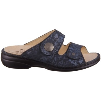 Schoenen Dames Leren slippers Finn Comfort Sansibar Bleu marine
