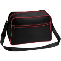 Tassen Jongens Schooltassen Bagbase BG14 Zwart/Klassiek Rood