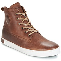 Schoenen Heren Hoge sneakers Blackstone INCH WORKER ON FOXING FUR Brown