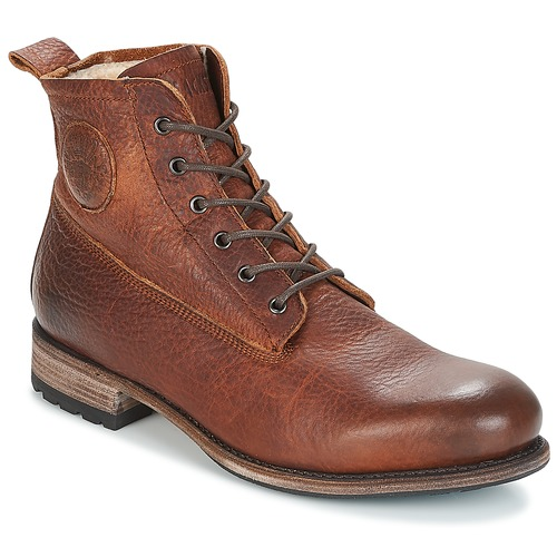 Schoenen Heren Laarzen Blackstone MID LACE UP BOOT FUR Brown