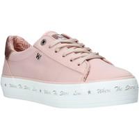 Schoenen Dames Lage sneakers Wrangler WL01645A Roze