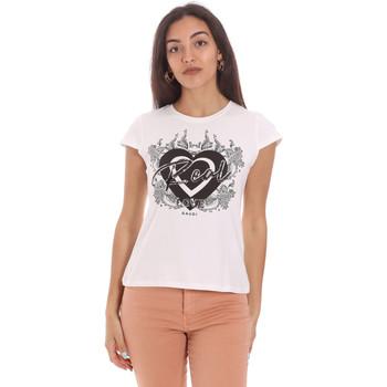 Textiel Dames T-shirts korte mouwen Gaudi 111FD64017 Wit