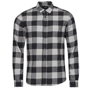 Textiel Heren Overhemden lange mouwen Only & Sons  ONSGUDMUND Zwart / Wit