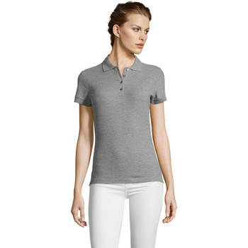 Textiel Dames Polo's korte mouwen Sols PEOPLE POLO MUJER Gris