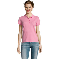 Textiel Dames Polo's korte mouwen Sols PEOPLE POLO MUJER Rosa