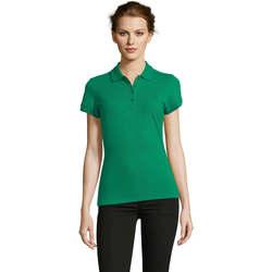 Textiel Dames Polo's korte mouwen Sols PEOPLE POLO MUJER Verde