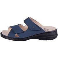 Schoenen Dames Leren slippers Finn Comfort Melrose Bleu marine