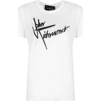 Textiel Dames T-shirts korte mouwen John Richmond  Wit