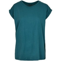 Textiel Dames T-shirts korte mouwen Build Your Brand Extended Teal