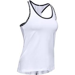 Textiel Dames Mouwloze tops Under Armour UA022 Wit/zwart