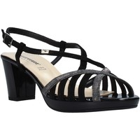 Schoenen Dames Sandalen / Open schoenen Valleverde 38536 Zwart