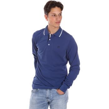 Textiel Heren Polo's lange mouwen Key Up 2L711 0001 Blauw