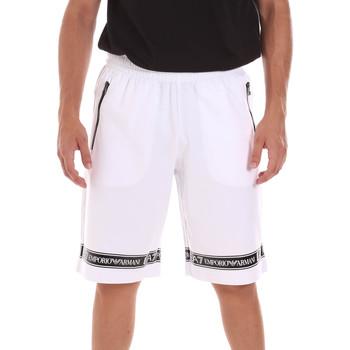 Textiel Heren Korte broeken / Bermuda's Ea7 Emporio Armani 3KPS56 PJ05Z Wit