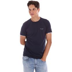 Textiel Heren T-shirts korte mouwen Key Up 2S420 0001 Blauw