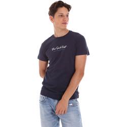 Textiel Heren T-shirts korte mouwen Key Up 2S438 0001 Blauw