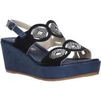 Schoenen Dames Sandalen / Open schoenen Valleverde 32214 Blauw