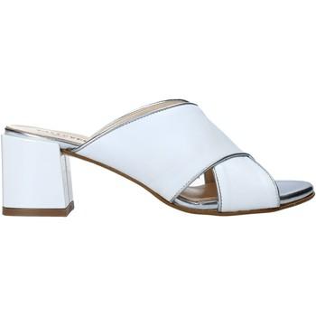 Schoenen Dames Leren slippers Valleverde 38201 Wit