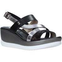 Schoenen Dames Sandalen / Open schoenen Valleverde 32151 Zwart