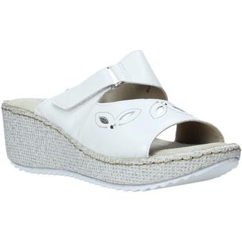 Schoenen Dames Leren slippers Valleverde 20221 Wit
