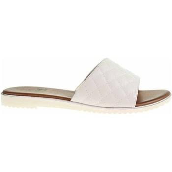 Schoenen Dames Leren slippers Jana 882710626100 Blanc