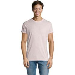 Textiel Heren T-shirts korte mouwen Sols REGENT FIT CAMISETA MANGA CORTA Rosa