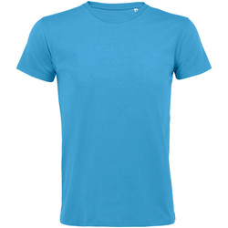 Textiel Heren T-shirts korte mouwen Sols REGENT FIT CAMISETA MANGA CORTA Azul