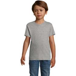 Textiel Jongens T-shirts korte mouwen Sols REGENT FIT CAMISETA MANGA CORTA Gris
