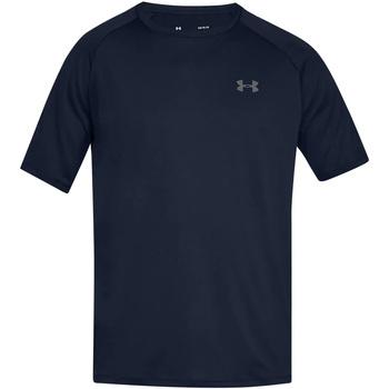 Textiel Heren T-shirts korte mouwen Under Armour UA005 Academie Blauw/Grafiet
