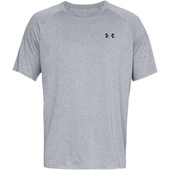 Textiel Heren T-shirts korte mouwen Under Armour UA005 Licht staal Heather/Zwart