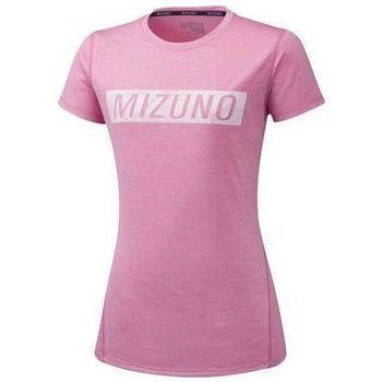 Textiel Dames T-shirts korte mouwen Mizuno Impulse Core Tee Rose