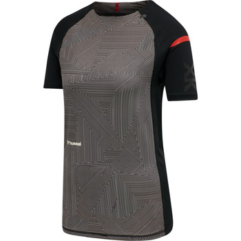 Textiel Dames T-shirts korte mouwen Hummel Maillot d'échauffement femme  hmlPRO XK noir/rose clair