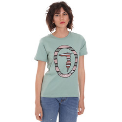 Textiel Dames T-shirts korte mouwen Trussardi 56T00371-1T005228 Groen