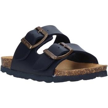 Schoenen Kinderen Leren slippers Bionatura 22B 1000 Blauw