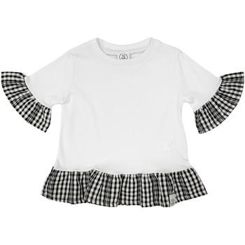 Textiel Meisjes T-shirts korte mouwen Naturino 6001011 01 Wit