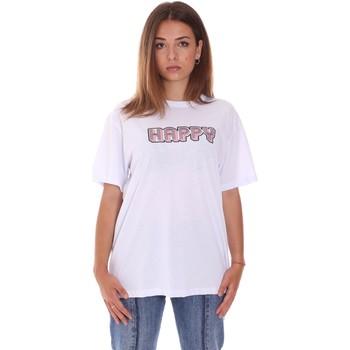 Textiel Dames T-shirts korte mouwen Naturino 6001026 01 Wit