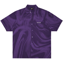 Textiel Heren Overhemden korte mouwen Jacker Purple potion Violet
