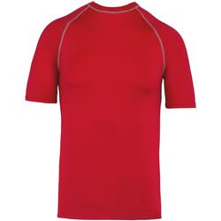 Textiel T-shirts korte mouwen Proact PA4007 Sportief Rood