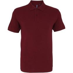 Textiel Heren Polo's korte mouwen Asquith & Fox AQ082 Bourgondië