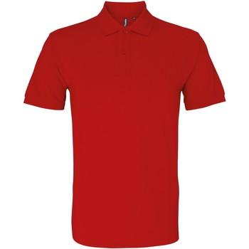 Textiel Heren Polo's korte mouwen Asquith & Fox AQ082 Kersenrood