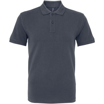 Textiel Heren Polo's korte mouwen Asquith & Fox AQ082 Grafiet