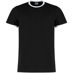 Textiel Heren T-shirts korte mouwen Kustom Kit KK508 Zwart/Wit