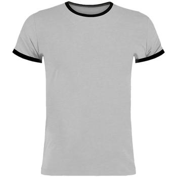 Textiel Heren T-shirts korte mouwen Kustom Kit KK508 Lichtgrijs mergel/zwart