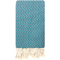 Accessoires Dames Sjaals Traditions Med fouta jacquard Blauw