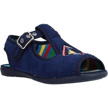 Schoenen Meisjes Sloffen Chispas 38155015 Blauw