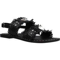 Schoenen Dames Sandalen / Open schoenen Café Noir FRATE IN PELLE INT Zwart