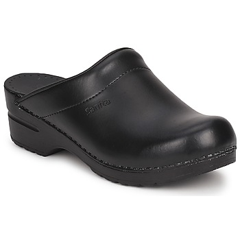 Schoenen Klompen Sanita SONJA OPEN Zwart