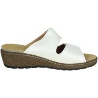 Schoenen Dames Leren slippers Novaflex FORINO White