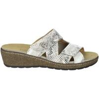 Schoenen Dames Leren slippers Novaflex FORESTO White